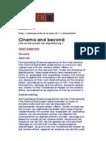 Cinema and beyond  Film en het proces van digitalisering