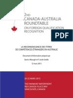La reconnaissance des titres de compétences étrangers en Australie