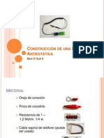 Construcción de Una Pulsera Antiestática