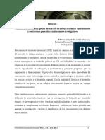 IRICEC V3 N2 Editorial Casalet & Stezano Cambios en La Estructura y Gestión Del Mercado de Trabajo Académico. Oportunidades y Restricciones Generadas a Instituciones e Investigadores