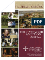 Concordia University Ann Arbor - Academic Catalog 2009-10