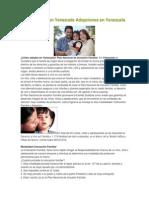 Como Adoptar en Venezuela Adopciones en Venezuela