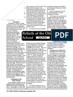 1998 Issue 3 - Rebirth of the Old School - Counsel of Chalcedon