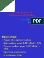 Seismic Analysis of RC Building