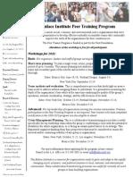 2011 Peer Training Flyer