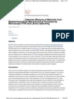 FTIR Technique to Identify Unknown Materials