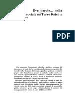 Dve Parole... Svlla Politica Sociale Del Terzo Reich