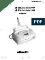 Olivetti Fax.lab200 250