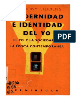 Giddens, A. - Modernidad e Identidad Del Yo