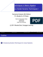 Gauss & Jordan Iterative Techniques