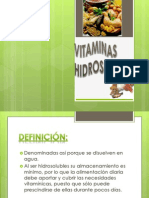 VITAMINAS HIDROSOLUBLES- diapositivas