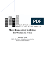 Music Preparation Guidelines for Orchestral Music