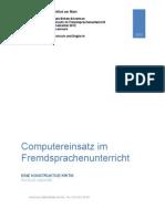 Computereinsatz Im Fremdsprachenunterricht