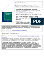 Becken Susanne - Tourists0 Perception of International Air Travel's Impact on the Global Climate and Potential Climate Change Policies