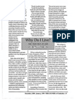 1999 Issue 1 - Why Do I Live? - Counsel of Chalcedon