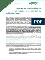 Resultados de Encuesta de Kaspersky Sobre Ambientes Virtuales