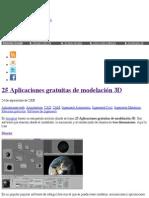 25 Aplicaciones gratuitas de modelación 3D | Blog ingeniería