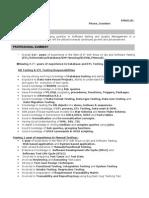 Sample Resume For ETL Testing 2 Yrs