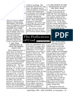 1999 Issue 3 - The Perfections of God - Counsel of Chalcedon