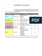 Criterios Evaluación 360°2013-I  Carreras