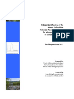 Independent Review of the  Mount Polley Mine  Technical Assessment Report  for a Proposed Discharge  of Mine Effluent (Final Report June 2011)