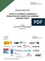 Alivio a la pobreza y desarrollo productivo en la región Piura