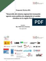 Desarrollo del sistema regional de innovación agraria como política de adaptación al cambio climático en la región Piura