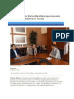 02-08-2014 Periódico Digital.mx - RMV analiza con Banco Mundial esquemas para fortalecer inversiones en Puebla.
