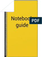 Notebook Notebook Guide 4pages