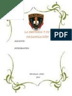 Monografia La Empresa y Su Organizacion