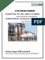 Steam Turbine Report