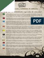 Lista de Habilidades Mage Knight 2.0 - Español