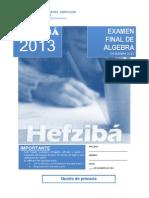 Examen FINAL de Algebra