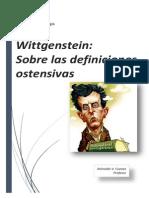 Argumentación Wittgenstein Ostensivas