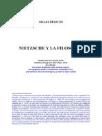 Deleuze - Nietzsche y La Filosofía