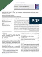 From Van Der Waals to VVPR,JSF,55,2010,438-447