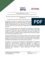 Nota de Prensa Nº 01 - 2014 El 7,5% de la población en edad de trabajar de la región Callao tiene algún tipo de discapacidad