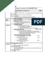 Robert's PDF Resume