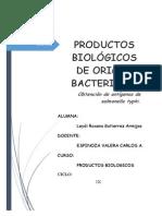 Productos Biológicos de Origen Bacteriano