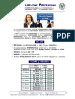 Contenido - Practitioner de Pnl - 31 Mayo y 1 Junio 2013