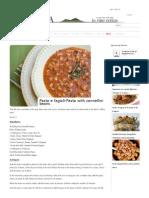 Pasta e Fagioli-Pasta With Cannellini Beans _ Campania Food & WineCampania Food & Wine