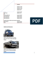Vehicle Size and Weights