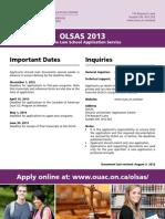 Ontario Law School Application Service 2013