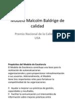 Modelo Malcolm Baldrige de Calidad