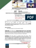 A La 5ta Fiscalia Penal de Turno - Subrogacion y Apersonamiento - Caso de Jhon Roberth