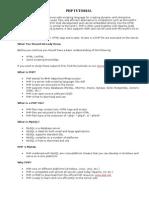 W3schools PHP tutorial