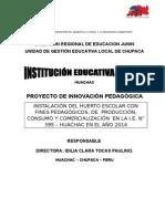 Proyecto - Instalación de Biohuertos Con Fines Pedagogicos
