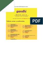 Ghandi Eventos de Mayo
