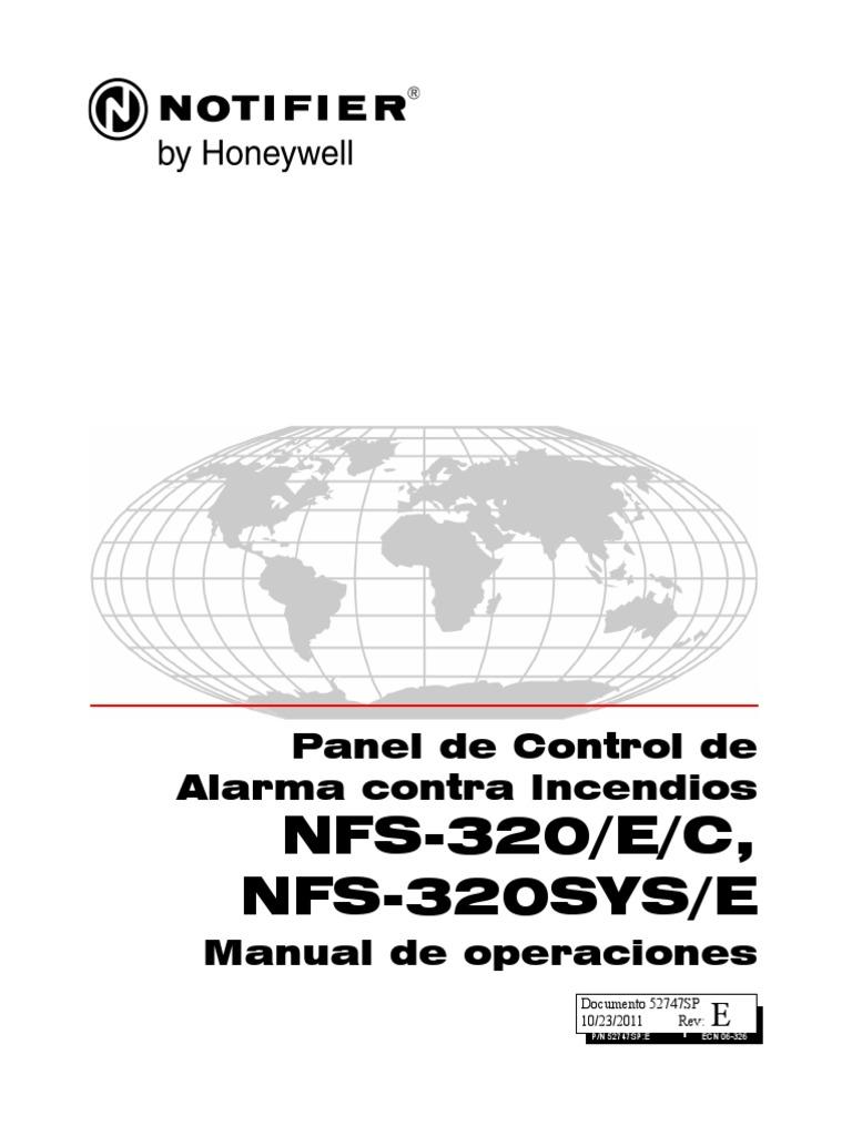 Manual en Español Nfs-320 Tablero Contra Incendios