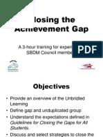 Achievement Gap-Closing Gaps PowerPoint